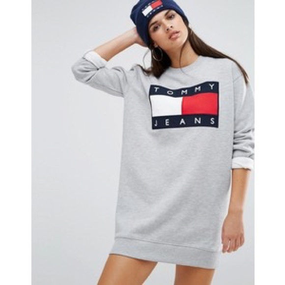 60d33e16 Tommy Hilfiger Sweaters | Tommy Jeans Sweater Dress Sweatshirt Tunic ...
